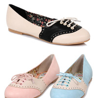 Bettie Page Oxford Flats