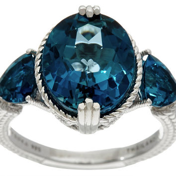 Judith Ripka Sterling Silver 6.70 cttw London Blue Topaz Ring — QVC.com