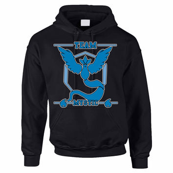 Adult Hoodie Sweatshirt Team Mystic Blue Team Cool Top