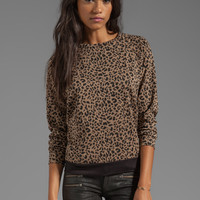 A Fine Line Mona Sweatshirt in Leopard Tan from REVOLVEclothing.com