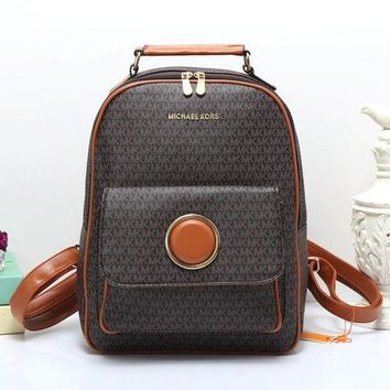 fa1522c1b0de italy rhea medium leather backpack michael kors d329d ccdef; czech onetow michael  kors all match retro fashion mk letter print backpack women large capacity  ...