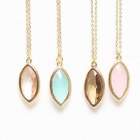 4 Colors Crystal Necklace, Delicate Necklace, Cute Necklace, Unique Necklace, Friendship Necklace, Simple Necklace, Bridesmaid Gifts