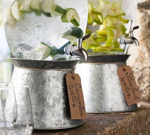 Galvanized Metal Drink Dispenser Stand From Pottery Barn