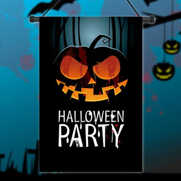 Pumpkin Halloween Party Garden Flag ;12'' x 18''