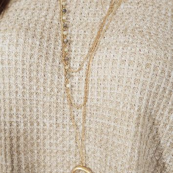 Give You The World Necklace: Gold/Ivory