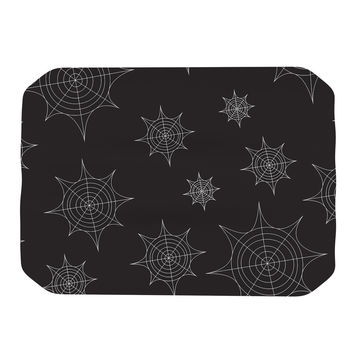 "KESS Original ""Mini Webs Black"" Place Mat"