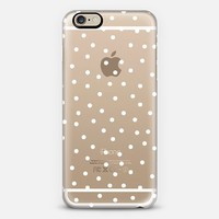 White Polka Dot iPhone 6 case by Pencil Me In | Casetify