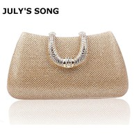 Diamond Rhinestone Evening Clutch Bag Women Elegant Handbag Purse Lady Evening Wedding Banquet Party Chain Bag Silver Black Gold
