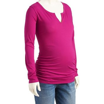 Old Navy Maternity Split Neck Tees