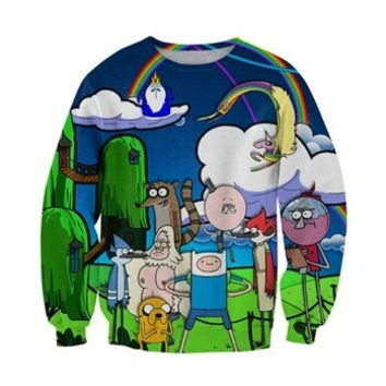 Adventure Time Blue Sweatshirt