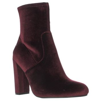 Steve Madden Brisk Stretch Ankle Booties, Burgundy, 10 US