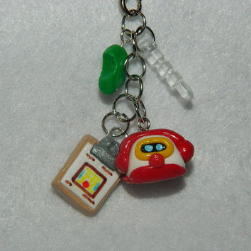 Animal Crossing Happy Home Designer Cellphone 3DS Dust Plug Charm Strap