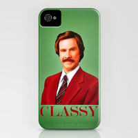 THE LEGEND OF RON BURGUNDY - Anchorman iPhone Case by John Medbury (LAZY J Studios) | Society6