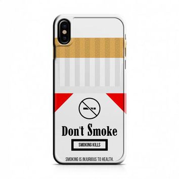 Cigarette Packet iPhone X Case