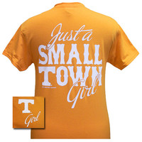 Tennessee Vols Volunteer Just A Small Town Girl Girlie Bright T Shirt