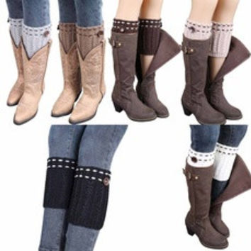1 Pair High Grade Knitted Leg Warmers Socks Boot Cover [8384198215]