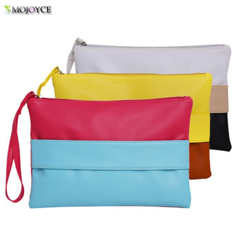 2017 Hot Women's PU envelope clutch bag long leather Wallet Ladies designer Purse Checkbook Handbag Unique Hand in style