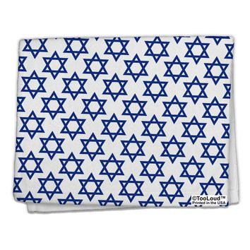 "Stars of David Jewish 11""x18"" Dish Fingertip Towel All Over Print by TooLoud"
