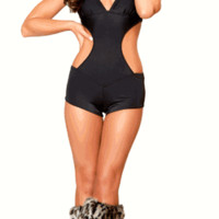 Sexy Ring Girl UFC One Piece Romper With Detachable Hood