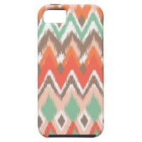 Tribal aztec chevron zig zag stripes chic pattern iPhone 5 case from Zazzle.com
