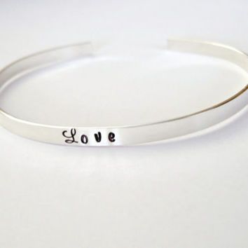 Sterling Silver Name Bracelet Personalized Cuff Bangle Bridesmaid Jewelry Mother of the Bride Gift Friendship Bracelet Mothers Jewelry