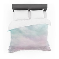 "Michelle Drew ""VIntage Clouds "" Pastel Nature Featherweight Duvet Cover"