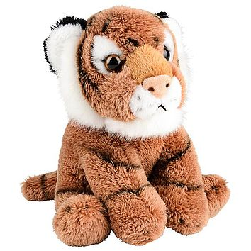 5 Inch Stuffed Tiger Cub Zoo Animal Plush Floppy Animal Kingdom Babies Collection