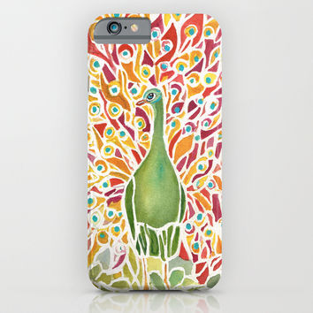 Grove Peacock iPhone & iPod Case by Rosie Brown