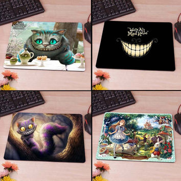 Tim Burton's Alice in Wonderland Cheshire Mousepad Mouse Pad pc mac laptop notebook usb hwd Gamer anti slip hwd 80's