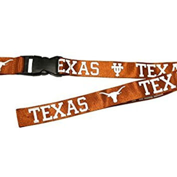 UNIVERSITY OF TEXAS LONGHORNS BURNT ORANGE BREAKAWAY LANYARD ( Football, Basketball, Softball, Baseball,NCAA)
