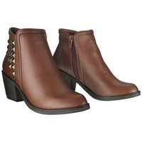 Women's Mossimo Supply Co. Kaden Studded Ankle Boot - Cognac