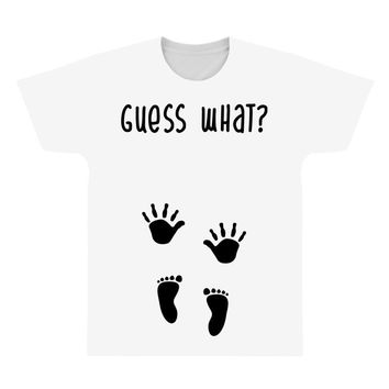 Guess What Baby Inside Pregnancy Announcement All Over Men's T-shirt