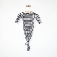Knotted Sleeper in Charcoal Stripes