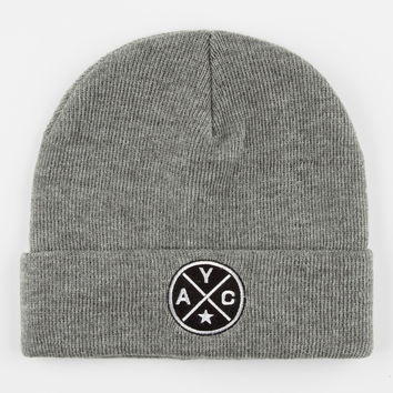 Asphalt Yacht Club Crossroads Mens Beanie Gray One Size For Men 26840011501