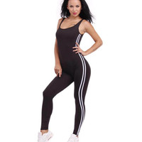 #0802 2017 Black/White jumpsuit Sexy bandage jumpsuit long One piece Rompers womens Body femme Women overalls Beyonce Ooveralls