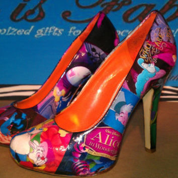 Alice and Wonderland  heels 45 inches by FaithisFabulous on Etsy