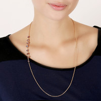 Lucite Bead Back Necklace