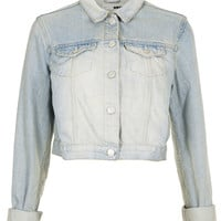 MOTO Bleach Crop Denim Jacket - Jackets - Clothing - Topshop USA