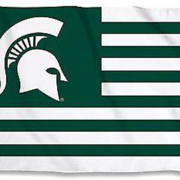 Michigan State Spartans 35129 NATION STRIPES 3x5 Flag House Banner University of