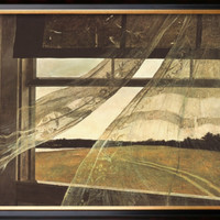 Wind from the Sea Framed Art Print by Andrew Wyeth at Art.com