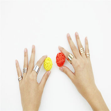 3 Pcs Above The Knuckle Open Ring Set