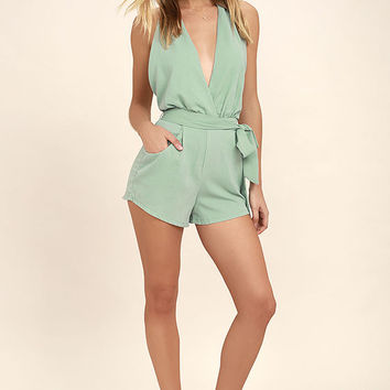 Playsuit My Fancy Sage Green Romper