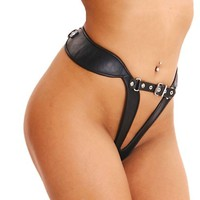 Tight Bondage Thong - Joanna Lark Bondage Gear Store - BDSM harnesses, bondage toys, posture collars and leather lingerie