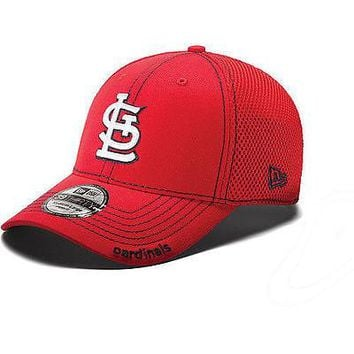 St. Louis Cardinals New Era Neo 39THIRTY Stretch Fit Flex Mesh Back Cap Hat 3930