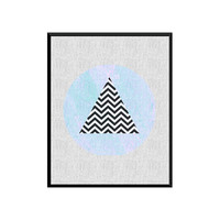 Triangle Printable ART, Printable Art, Chevron Minimalist, Scandinavain Art, Wall Art, Wall Decor, Instant download, Large wall Print
