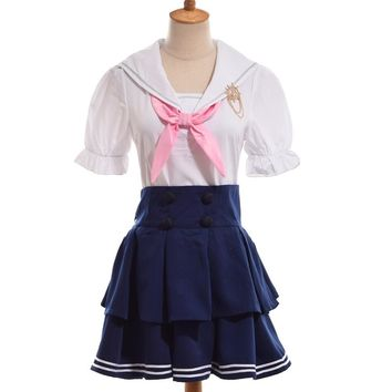 Honoka Kousaka Navy Sailor Dress Uniform Skirt Anime Love Live Cosplay Costume