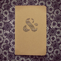 moleskine notebook - hand illustrated ampersand - and - graphic - tribal - back to school