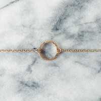 Sample Item: Gold Eternity Circle Bracelet