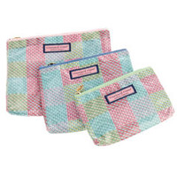 Accessories for Women: Vineyard Whale Patchwork 3-in-1 Makeup Bag for Women - Vineyard Vines