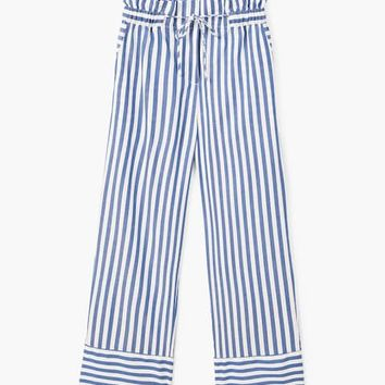 Striped cotton trousers - Woman | MANGO United Kingdom